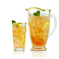 Bavaria Gold-Rimmed 7 Piece Drinkset with Pitcher and 6 Highball Glasses