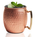 Moscow Mule Copper and Stainless Steel Hammered Belly-Shaped Mug 20oz