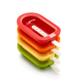 Lékué Extra Large Stackable Ice Lolly Ice Cream Popsicle Mould Set of 4 Assorted Colors