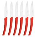 Degrenne Paris Quartz Red 6 Piece Steak Knives Set